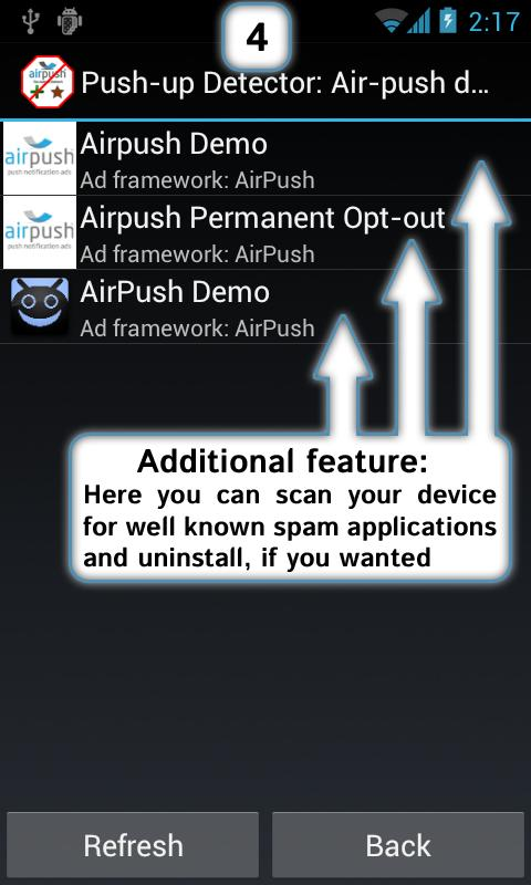 AirPush Ads Detector - screenshot