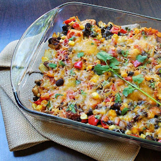 Autumn Harvest Black Bean Casserole.