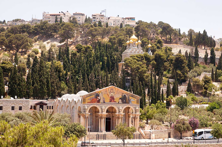 The Mount of Olives is one of three peaks of a mountain ridge just east of Old Jerusalem.