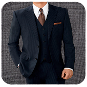 Stylish Man Suit Photo Montage