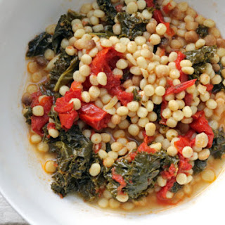 Saltie Sandwich Shop's Late-Summer Roasted Tomato Soup with Fregola and Kale