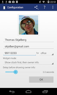 Instant Owner Info Widget- screenshot thumbnail