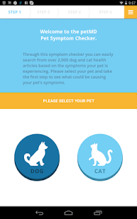 petMD Symptom Checker screenshot for Android