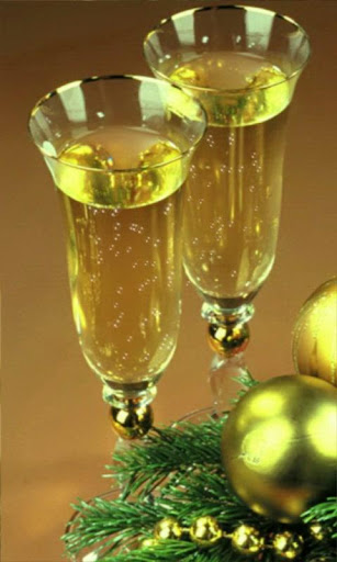 New Year champagne wallpaper