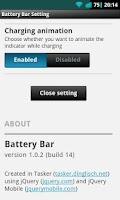 Screenshot of Battery Bar