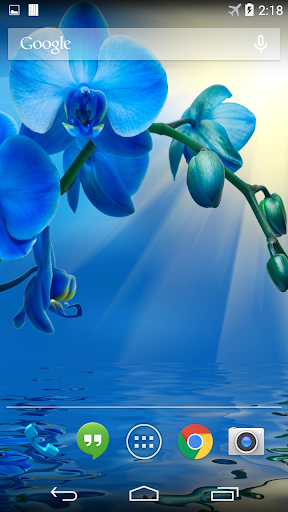 Blue Orchid Live Wallpaper