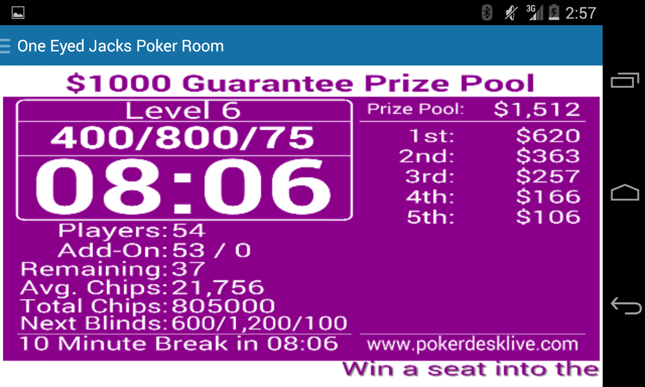 Poker Desk Live- screenshot