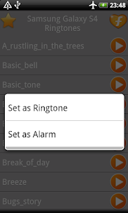 Samsung Galaxy S4 Ringtones - screenshot thumbnail