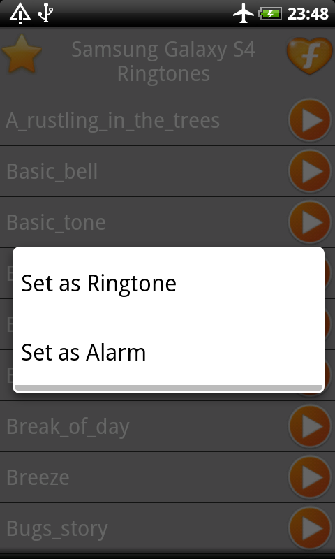 Samsung Galaxy S4 Ringtones - screenshot