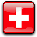 Switzerland Flag Clock Widget