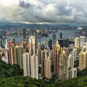 From The Top... by Happy Sugianto - Landscapes Travel ( canon, hong kong, the peak, view, travel, china )