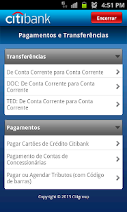 Citi Mobile BR - screenshot thumbnail