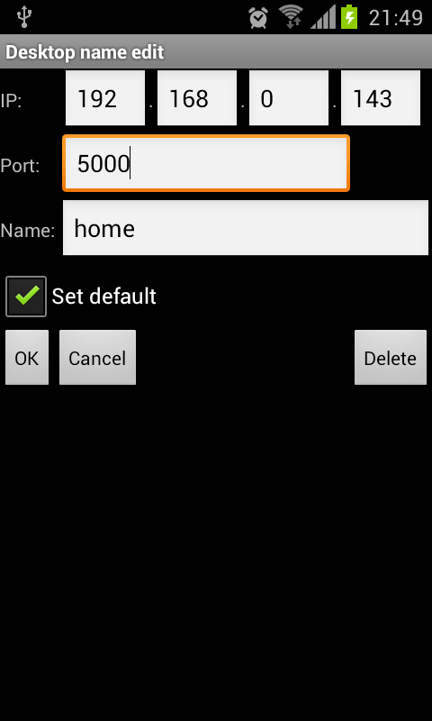 SounDroid(remote sound contr.)- screenshot