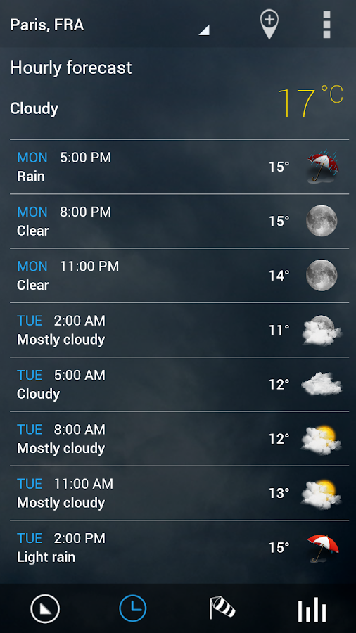 Sense V2 Flip Clock & Weather - screenshot