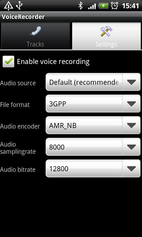 Voicecall recorder- screenshot