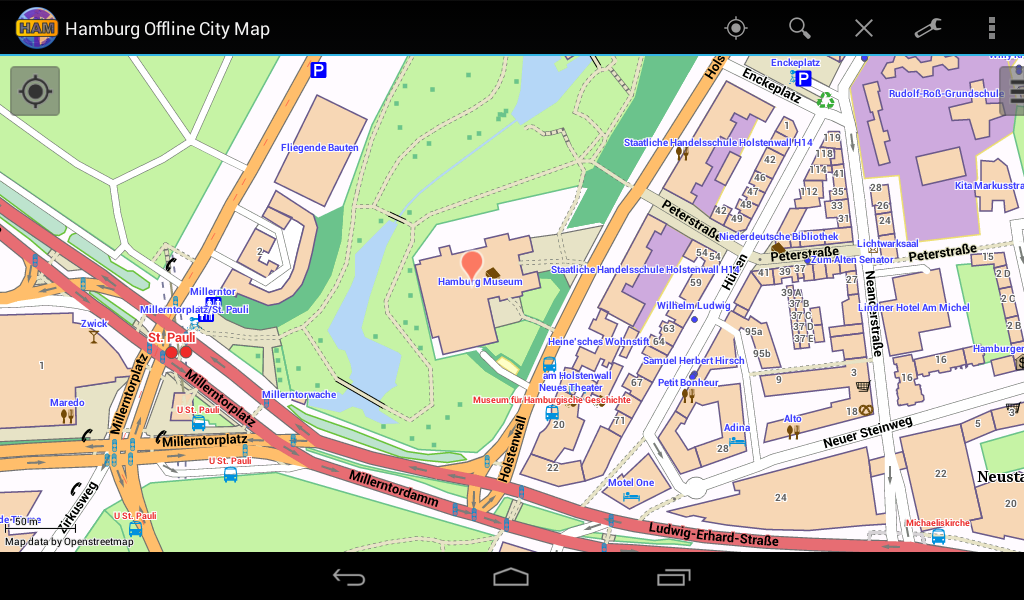 hamburg offline city map android apps on google play. Black Bedroom Furniture Sets. Home Design Ideas