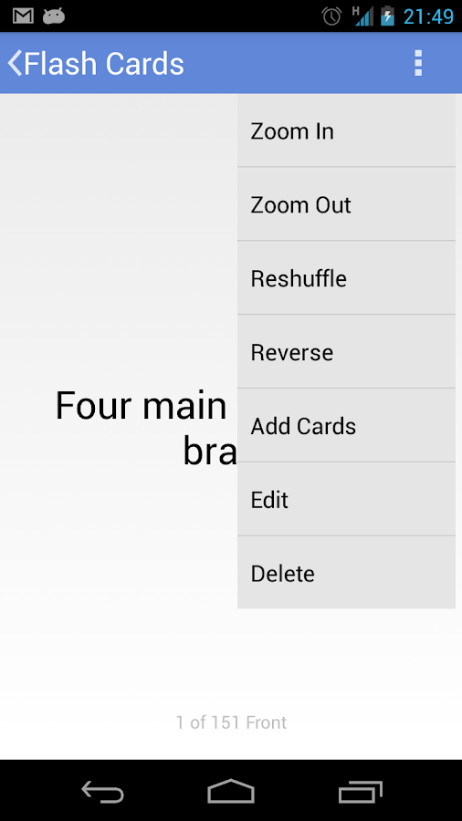 Android Flash Cards - screenshot