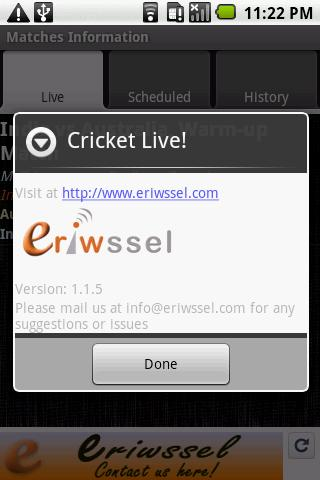 Cricket Live! - screenshot