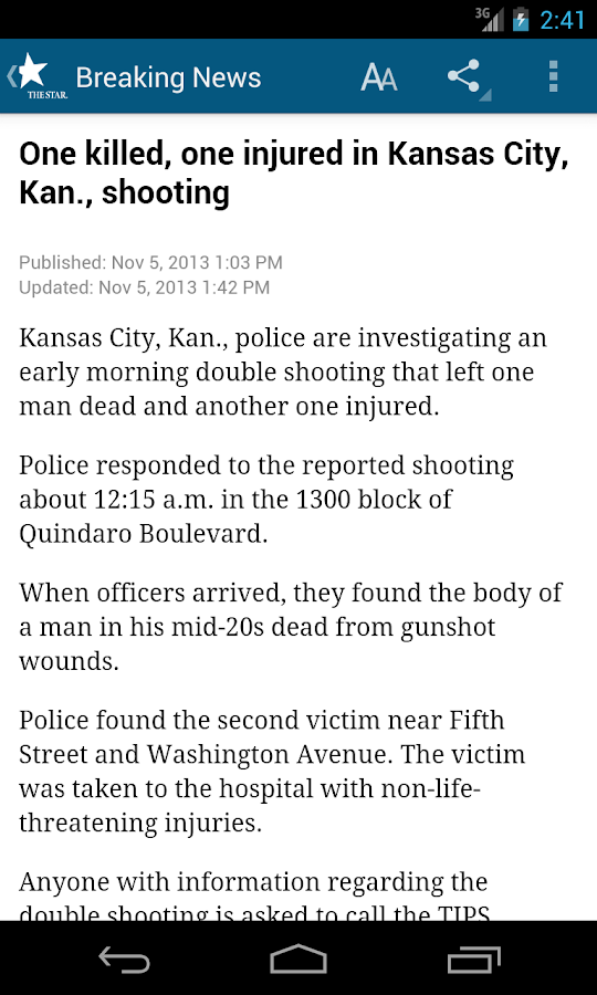 Kansas City Star Newspaper - screenshot
