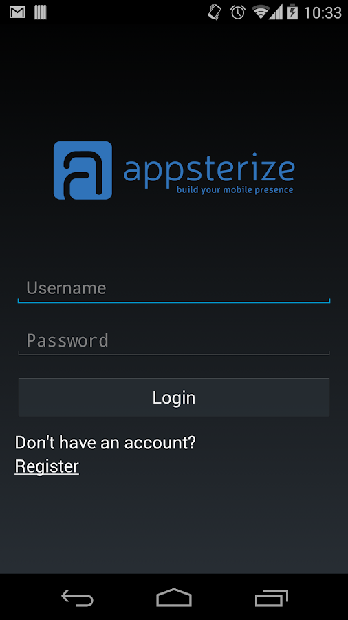 Appsterize- screenshot