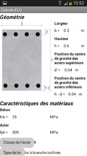 Calculs béton armé Eurocode 2