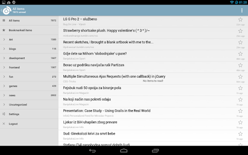 SilverReader RSS reader