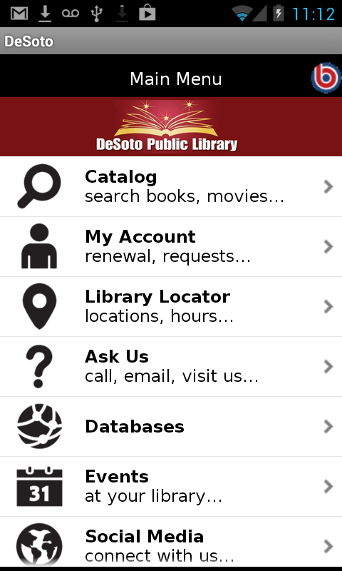 DeSoto Texas Public Library- screenshot