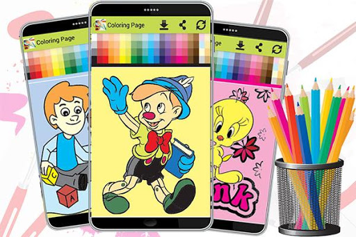 Coloring Page - Kids Paint