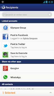 Glympse - Share GPS location - screenshot thumbnail