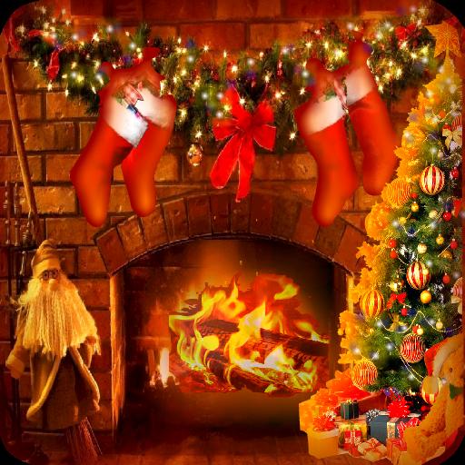 聖誕壁爐壁紙 LOGO-APP點子