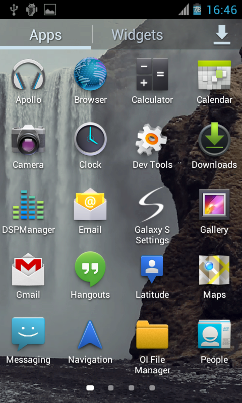Waterfall2 LWP - screenshot