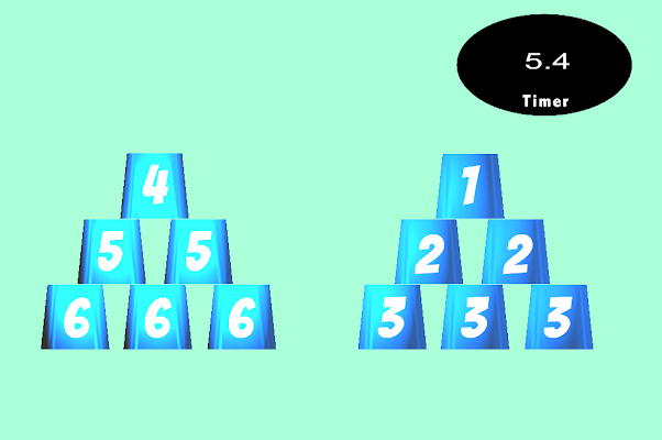 Cup Stacking Game - Full Speed - screenshot