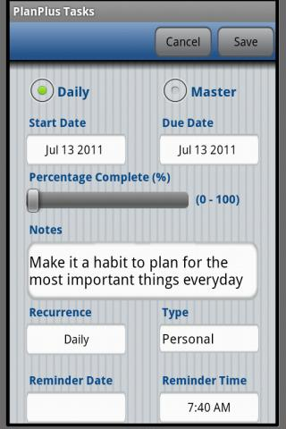 PlanPlus Tasks - screenshot
