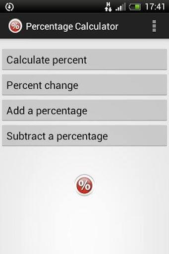 Percentage Calculator app