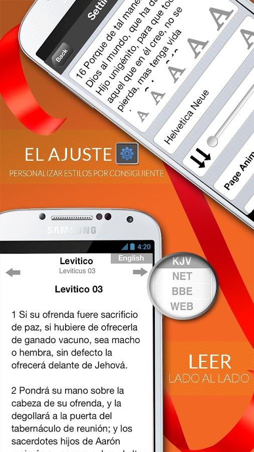 Screenshots of Santa Biblia Reina Valera Free for iPhone