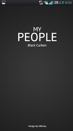 My people theme black carbon