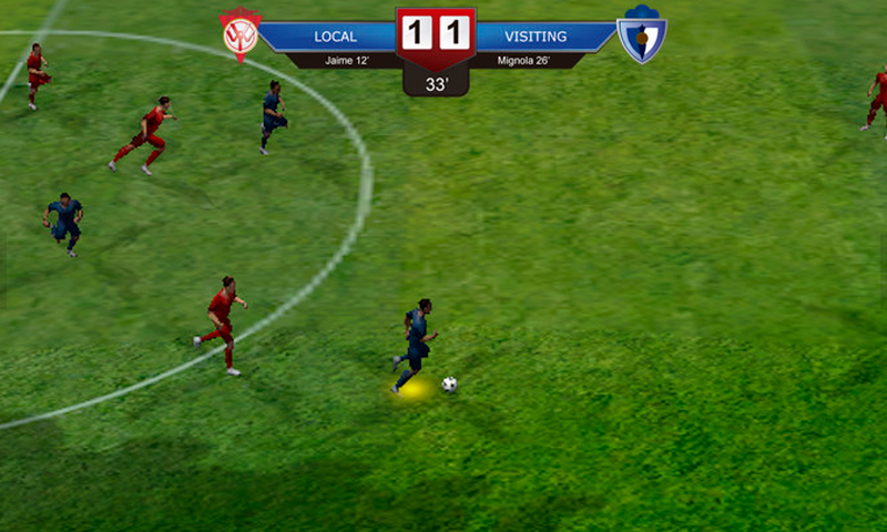 Superstar Soccer Evolution: captura de pantalla
