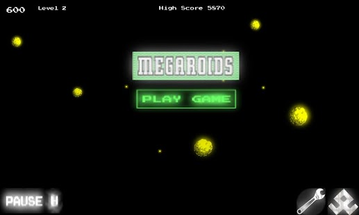 Megaroids (Asteroid game) - screenshot thumbnail