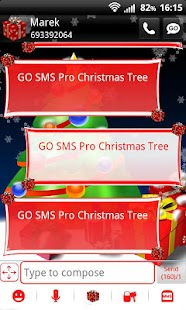 GO SMS Pro Christmas Tree - screenshot thumbnail