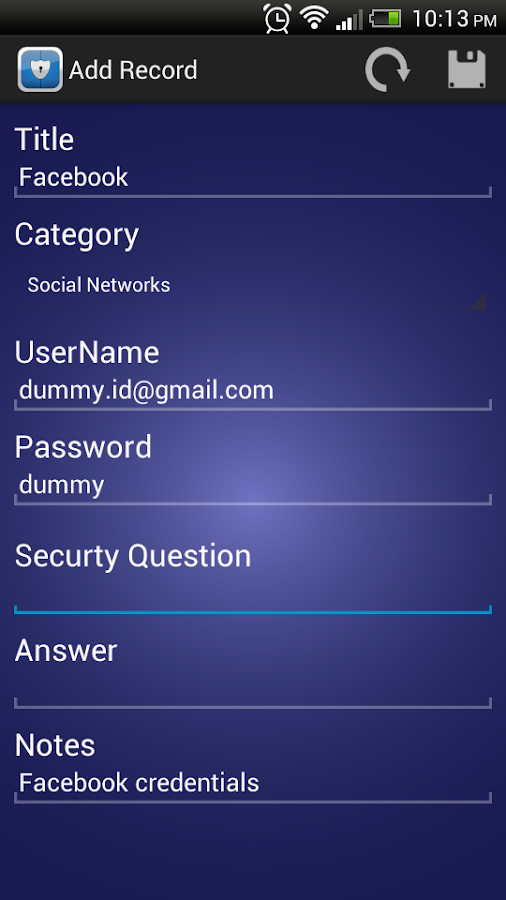 Secura Password Manager - screenshot
