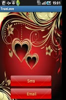 Screenshot of True Love SMS and Email