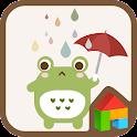 Frog in the rain dodol theme icon