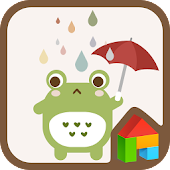 Frog in the rain dodol theme