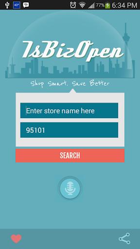 IsBizOpen - Local Store Hours