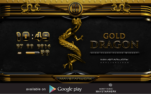 NEXT theme dragon gold Aplicaciones para Android screenshot