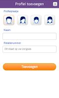 Screenshot of Agis Declaratie-app