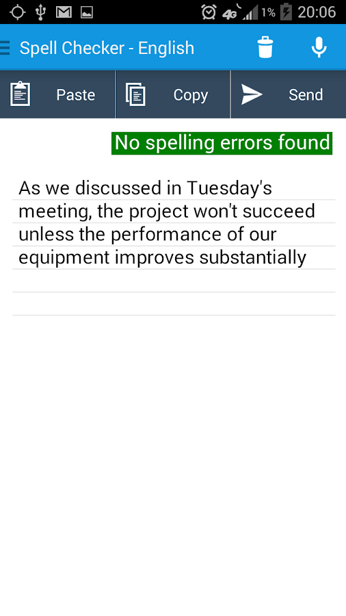 Spell Checker PRO- screenshot