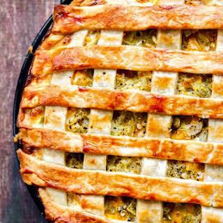 Chicken, Green Chile and Potato Pie.