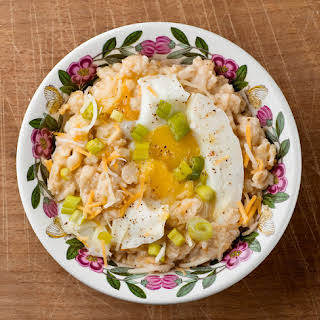 Savory Oatmeal with Soft-Cooked Egg and Cheddar.