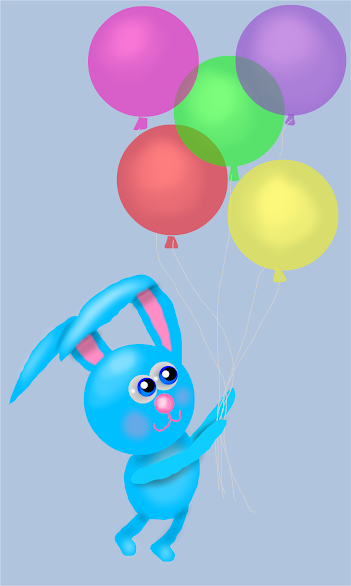Happy Birthday Blue Bunny